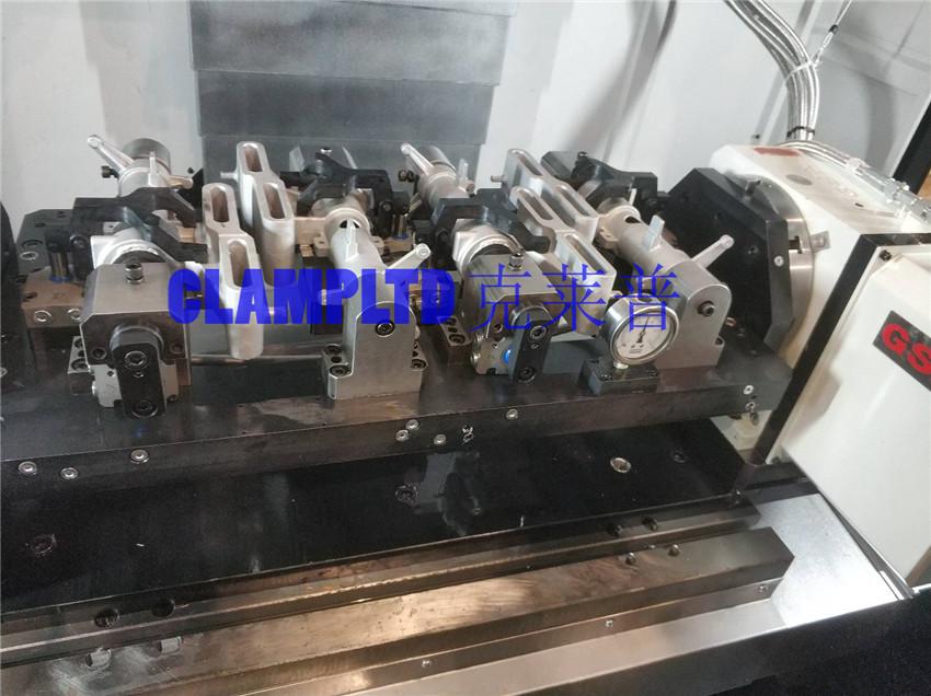 柱管多工位液压夹具 工装夹具 第2张