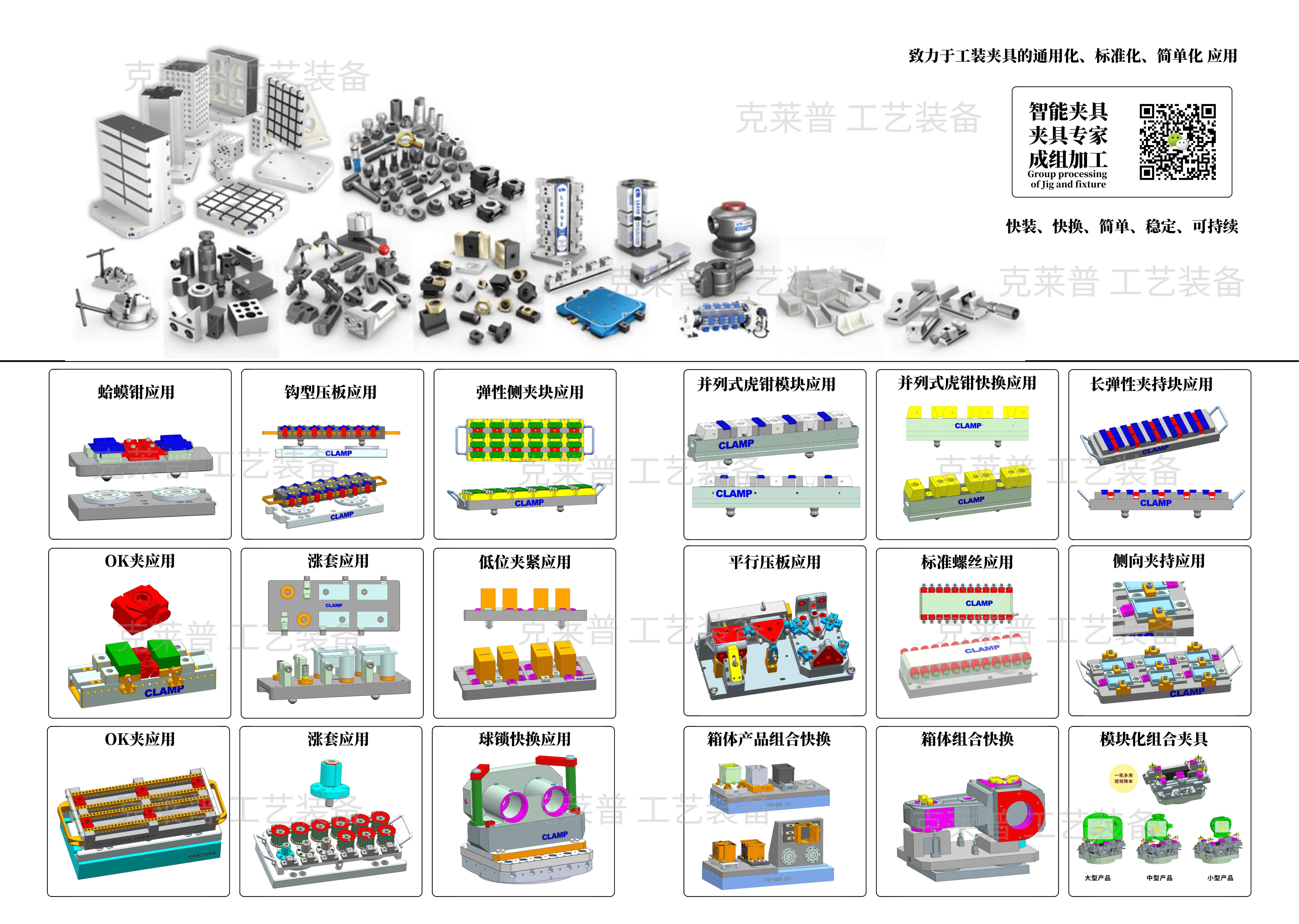 克莱普致力于工装夹具的模块通用化标准化应用
