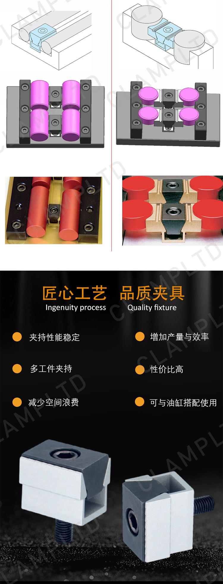 精巧型虎钳、双面固定夹具 夹具附件 第3张